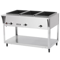Vollrath 38213 ServePan SL Electric Three Pan Hot Food Table 120V - Sealed Well