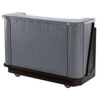 Cambro BAR650PMT420 Granite Gray and Black Cambar 67 inch Portable Bar with 7-Bottle Speed Rail and Complete Post Mix System with Water Tank