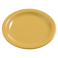 Carlisle 4385422 Honey Yellow Dayton 7 1/4 inch Melamine Salad Plate - 48/Case