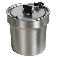 Star SSB-11H 11 Qt. Stainless Steel Inset with Hinged / Notched Cover