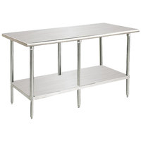 Advance Tabco SAG-2411 24 inch x 132 inch 16 Gauge Stainless Steel Commercial Work Table with Undershelf