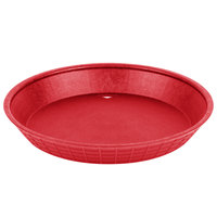 Tablecraft 137510R 10 1/2 inch Red Plastic Diner Platter / Fast Food Basket - 12 / Pack
