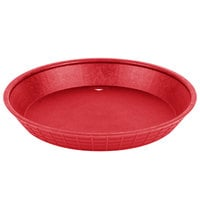 Tablecraft 137510R 10 1/2 inch Red Plastic Diner Platter / Fast Food Basket   - 12/Pack