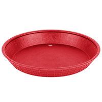 Tablecraft 137510R 10 1/2 inch Red Plastic Diner Platter / Fast Food Basket - 12/Pack