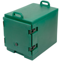 Cambro 300MPC519 Camcarrier Green Front Loading Insulated Food Pan Carrier with Handles