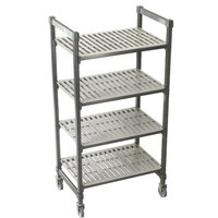 Cambro Camshelving Premium CPMS244275V4480 Mobile Shelving Unit with Standard Casters 24 inch x 42 inch x 75 inch - 4 Shelf