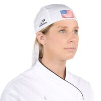 Headsweats 8800-801 American Flag 100% Performance Fabric Adjustable Chef Bandana / Do Rag