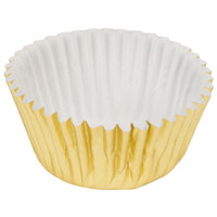 Ateco 6401 1 inch x 5/8 inch Gold Baking Cups (August Thomsen) - 200/Box