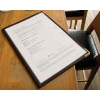 8 1/2 inch x 11 inch American Metalcraft Securit One Pocket Menu Holder 3 / Pack