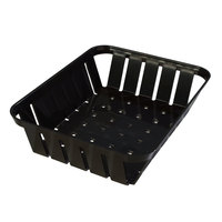 Carlisle 4403103 Stackable Black Munchie Basket 10 3/8 inch x 8 inch 12 / Case
