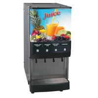 Bunn Silver Series 37300.0054 JDF-4S Four Flavor Cold Beverage System with LED Lighted Graphics