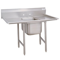 Advance Tabco 93-1-24-36RL Regaline One Compartment Stainless Steel Sink with Two Drainboards - 90 inch