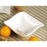 CAC SOH-76 Soho 20 oz. American White (Ivory / Eggshell) Square Stoneware Bowl - 36 / Case