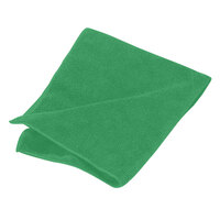 Green Carlisle 3633409 16 inch x 16 inch Terry Microfiber Cleaning Cloth 12/Case