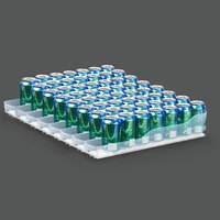 True 929837 Trueflex Bottle Organizer - 3 1/8 inch x 23 3/4 inch - 8 Lanes; for 20 oz. Bottles