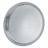 Vollrath 82375 Elegant Reflections 15 1/4 inch x 1 1/2 inch Silver Plated Stainless Steel Round Catering Tray