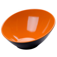 GET B-789-OR/BK Brasilia 1.1 Qt. Orange and Black Melamine Bowl - 6/Case