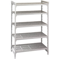 Cambro Camshelving Premium CPU183664V5480 Shelving Unit with 5 Vented Shelves 18 inch x 36 inch x 64 inch