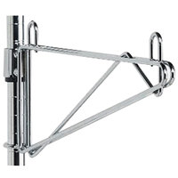 Metro 1WS14C Super Erecta Chrome Post-Type Wall Mount 14 inch Shelf Support