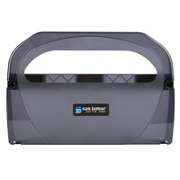 San Jamar TS510TBK Toilet Seat Cover Dispenser - Black Pearl