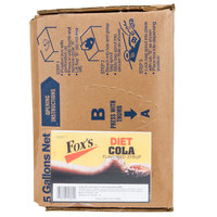Fox's Bag In Box Diet Cola Beverage / Soda Syrup - 5 Gallon