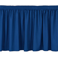 National Public Seating SS24 Navy Shirred Stage Skirt for 24 inch Stage