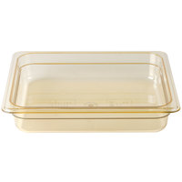 Cambro 22HP150 H-Pan 1/2 Size Amber High Heat Food Pan - 2 1/2 inch Deep
