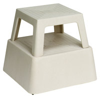 Continental 523TN Step Stool 13 inch Beige With Casters