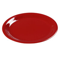 Carlisle 3300805 6 1/2 inch Red Sierrus Narrow Rim Pie Plate - 48 / Case
