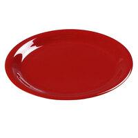 Carlisle 3300805 6 1/2 inch Red Sierrus Narrow Rim Pie Plate - 48 / Case
