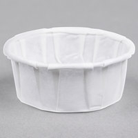 Genpak F050S .5 oz. Squat Harvest Paper Souffle / Portion Cup - 250/Pack