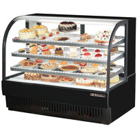 True TCGR-59 59 inch Black Curved Glass Refrigerated Bakery Display Case - 32.5 Cu. Ft.