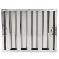 16 inch x 20 inch x 2 inch Stainless Steel Hood Filter