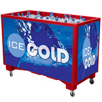 Red Extra Large Ice Saver 065 Mobile 140 qt. Frost Box with Casters