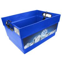 Blue Light Hawker Beverage Merchandiser with Harness