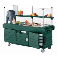 Cambro CamKiosk KVC856519 Green Vending Cart with 6 Pan Wells