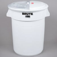 Rubbermaid FG9G7500WHT Brute 32 Gallon Ingredient Storage Bin with 4 Cup Measuring Scoop