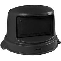 32 Gallon Black Dome Top Trash Can Lid