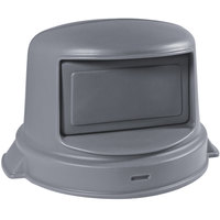 32 Gallon Gray Dome Top Trash Can Lid