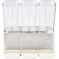 Crathco D35-4 Triple 5 Gallon Bowl High Impact Plastic Refrigerated Beverage Dispenser