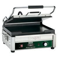 Waring WFG275T 14 inch x 14 inch Tostato Supremo Smooth Top & Bottom Panini Sandwich Grill with Timer - 120V