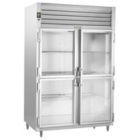 Traulsen Stainless Steel RHF232WP-HHG 55.8 Cu. Ft. Glass Half Door Two Section Reach In Pass-Through Heated Holding Cabinet - Specification Line
