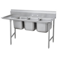 Advance Tabco 93-3-54-36 Regaline Three Compartment Stainless Steel Sink with One Drainboard - 95 inch