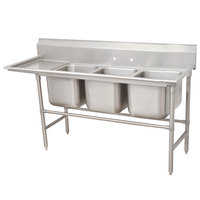 Advance Tabco 94-3-54-36 Spec Line Three Compartment Pot Sink with One Drainboard - 95 inch