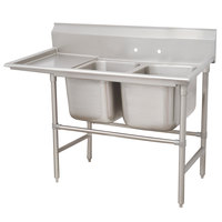 Advance Tabco 94-42-48-36 Spec Line Two Compartment Pot Sink with One Drainboard - 92 inch