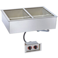 Alto-Shaam 200-HW/D4 Two Pan Drop In Hot Food Well - 4 inch Deep Pans
