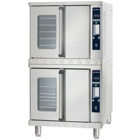 Alto-Shaam 2-ASC-4G / STK / E Platinum Series Stacked Full Size Gas Convection Ovens with Electronic Controls - 100,000 BTU