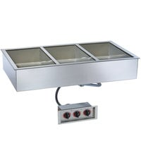Alto-Shaam 300-HW/D6 Three Pan Drop In Hot Food Well - 6 inch Deep Pans