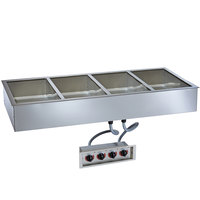Alto-Shaam 400-HW/D4 Four Pan Drop In Hot Food Well - 4 inch Deep Pans