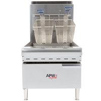 APW Wyott APWF-25C 25 lb. Gas Countertop Fryer - 60,000 BTU